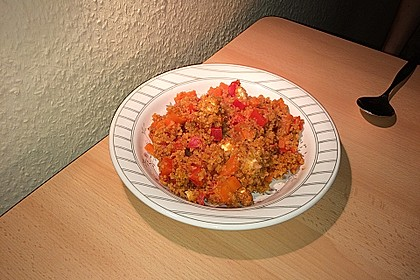 Bulgur - Tomaten - Feta - Pfanne 7