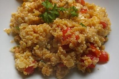 Bulgur - Tomaten - Feta - Pfanne 16