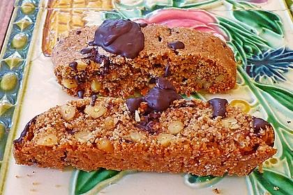 Biscotti mit Schokolade