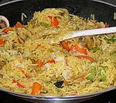 Vegetarische Reispfanne (Bild)