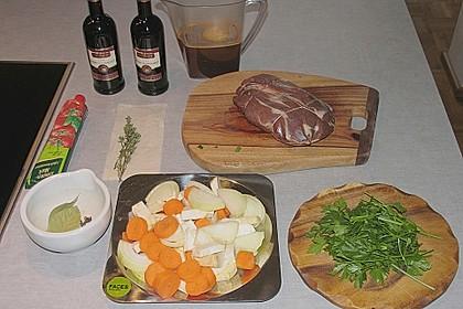 Wildschweinbraten in Steinpilz-Rotwein-Sauce 4