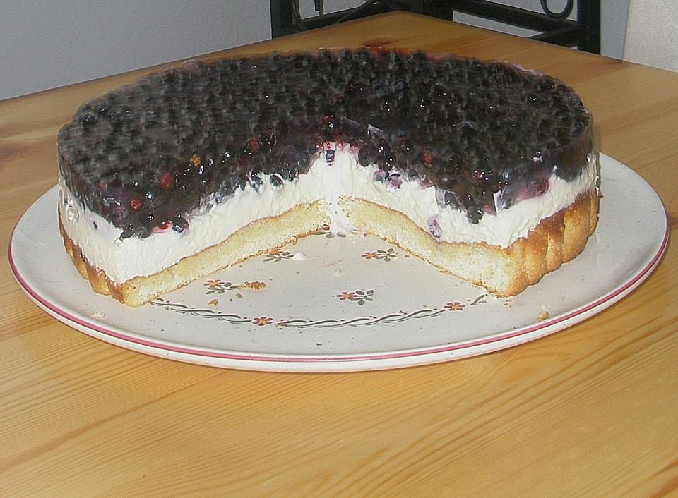 philadelphia torte mit heidelbeeren nach tanjas art von. Black Bedroom Furniture Sets. Home Design Ideas