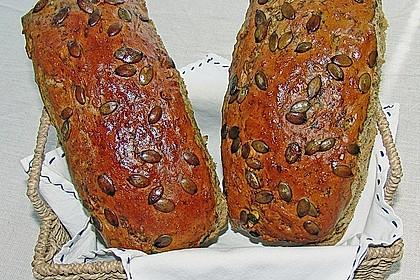Steirisches Kürbiskern-Brot mit Kürbiskernöl 15