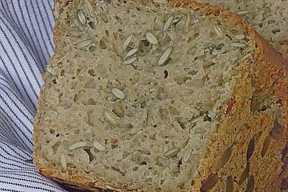 Steirisches Kürbiskern-Brot mit Kürbiskernöl 5
