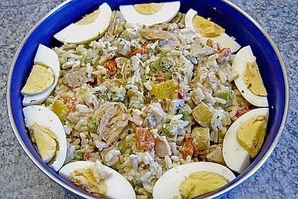 Thunfisch - Reis - Salat mit Pute und Ei 2