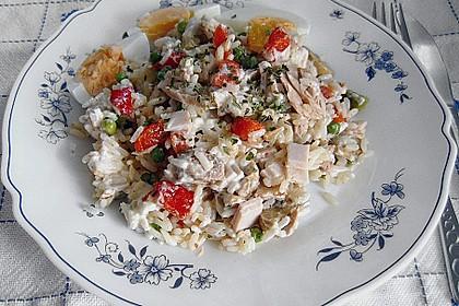 Thunfisch - Reis - Salat mit Pute und Ei 1