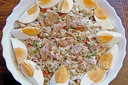 Thunfisch - Reis - Salat mit Pute und Ei 3