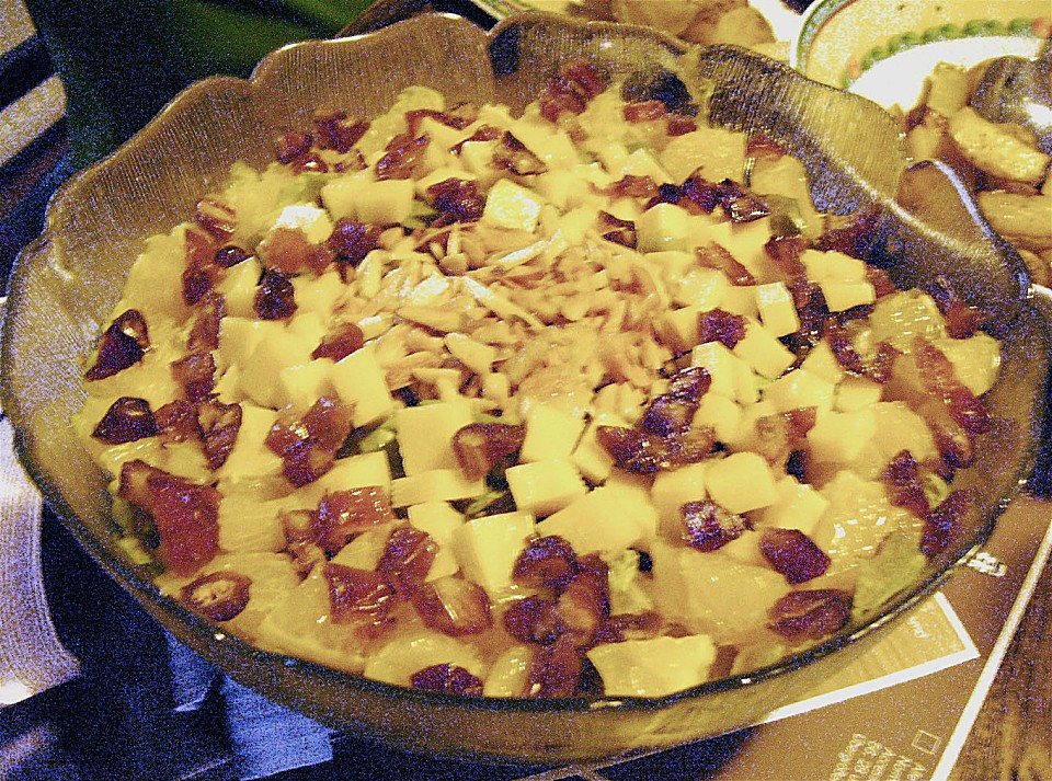 Eichblattsalat mit orangenschnitzen und datteln rezept for Datteln deko