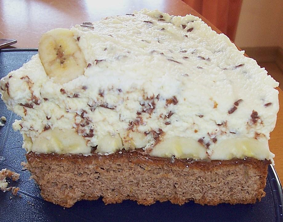 Kuchen bananensplit vom blech