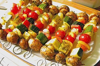 Gemüsespieß zum Grillen 5