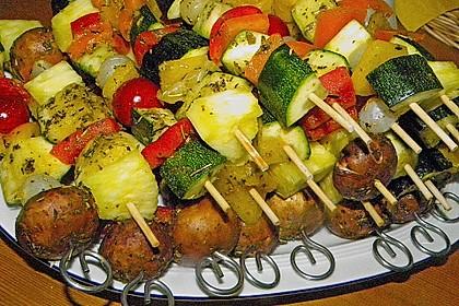 Gemüsespieß zum Grillen 6