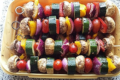 Gemüsespieß zum Grillen 4