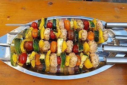 Gemüsespieß zum Grillen 2
