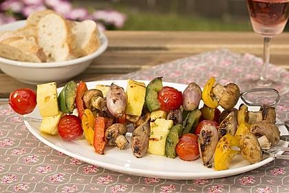 Gemüsespieß zum Grillen 1