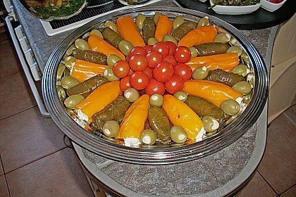 Antipasti - mit Frischkäse gefüllte Paprika 2