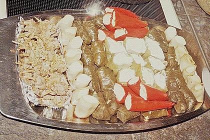 Antipasti - mit Frischkäse gefüllte Paprika 14