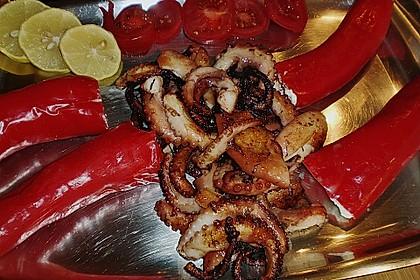 Antipasti - mit Frischkäse gefüllte Paprika 8