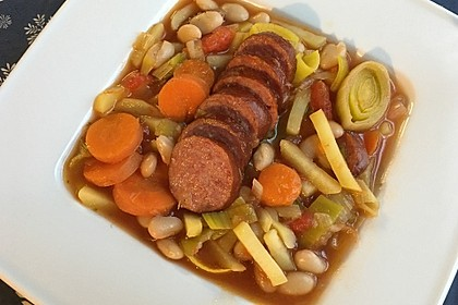 Bohneneintopf mit Cabanossi 4