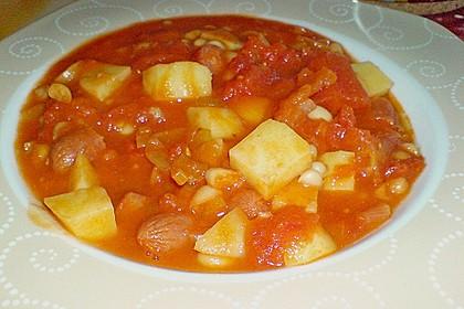 Bohneneintopf mit Cabanossi 12