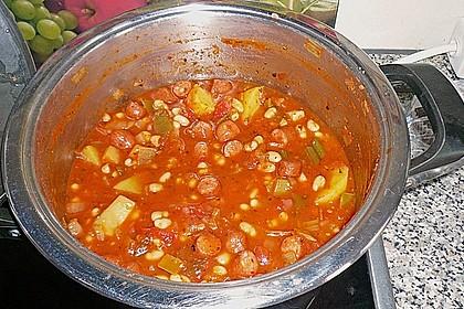 Bohneneintopf mit Cabanossi 16
