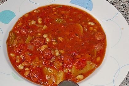 Bohneneintopf mit Cabanossi 10