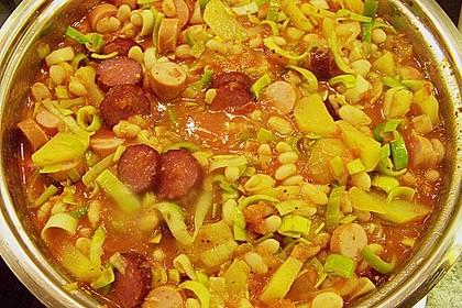 Bohneneintopf mit Cabanossi 3