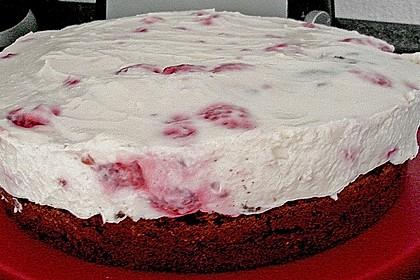 Himbeer - Schachbrett - Torte 123