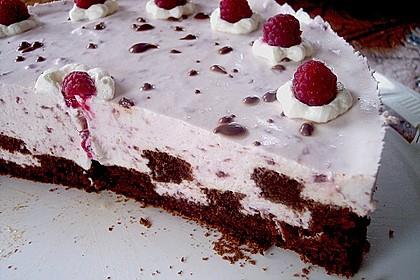 Himbeer - Schachbrett - Torte 72