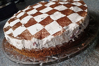 Himbeer - Schachbrett - Torte 45