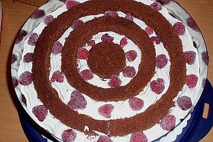 Himbeer - Schachbrett - Torte 23