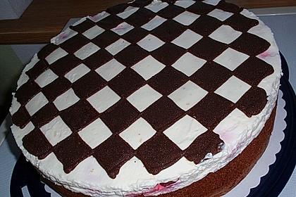 Himbeer - Schachbrett - Torte 25