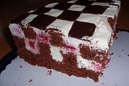 Himbeer - Schachbrett - Torte 57