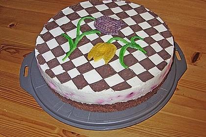 Himbeer - Schachbrett - Torte 11