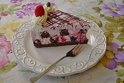 Himbeer - Schachbrett - Torte 8