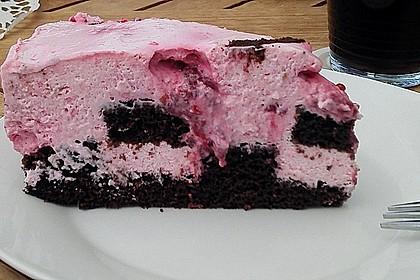 Himbeer - Schachbrett - Torte 80
