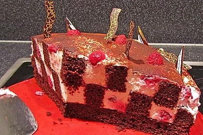 Himbeer - Schachbrett - Torte 44