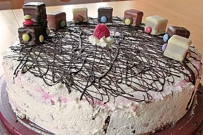 Himbeer - Schachbrett - Torte 48