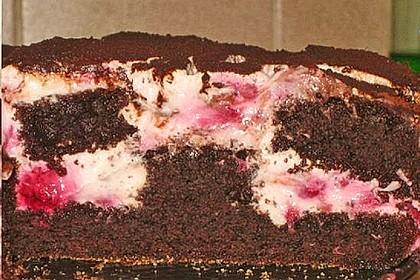 Himbeer - Schachbrett - Torte 128