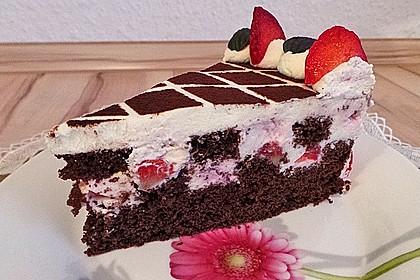 Himbeer - Schachbrett - Torte 15