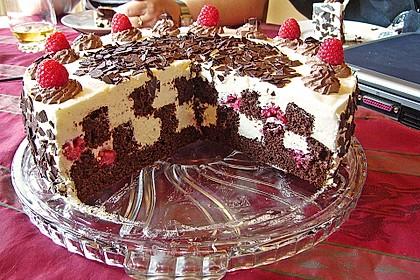 Himbeer - Schachbrett - Torte 14