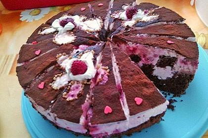 Himbeer - Schachbrett - Torte 126