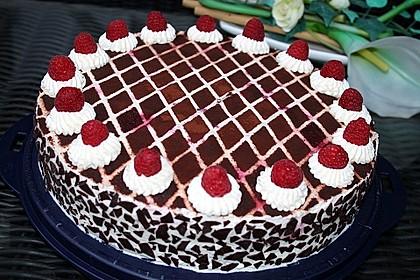 Himbeer - Schachbrett - Torte 4