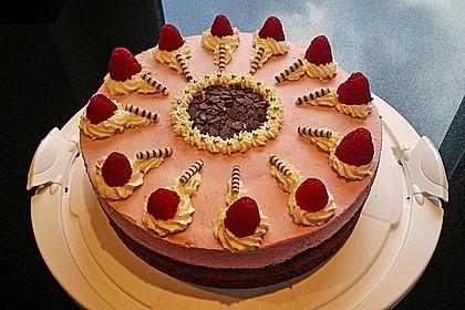 Himbeer - Schachbrett - Torte 3
