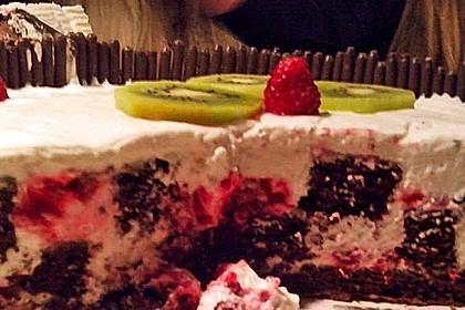 Himbeer - Schachbrett - Torte 86