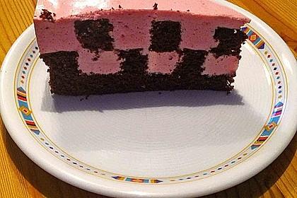 Himbeer - Schachbrett - Torte 100