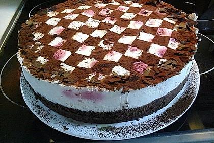 Himbeer - Schachbrett - Torte 103