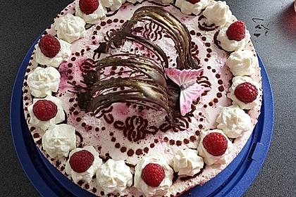Himbeer - Schachbrett - Torte 6