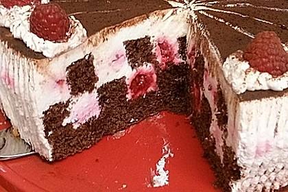 Himbeer - Schachbrett - Torte 17