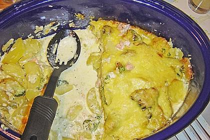 Kartoffelauflauf mit Lachs 5