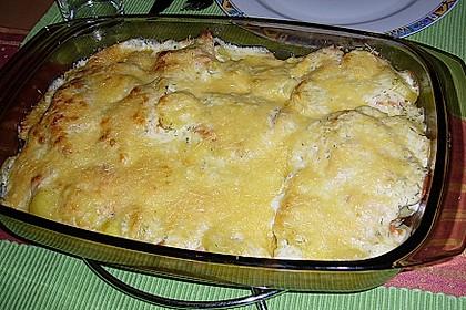 Kartoffelauflauf mit Lachs 4